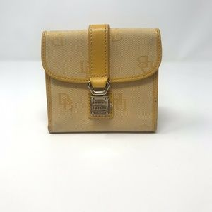 Dooney And Bourke Signature Yellow Flap Wallet